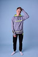 Яркий подростковый спортивный костюм для мальчиков GRACE c модной кофтой,разм 134-164 см, фото 1