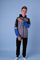 Спортивные костюмы для мальчиков подростковые оптом GRACE,разм 140-170 см,95% хлопок, фото 1
