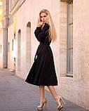 Стильное платье миди на запах из костюмки Барби, с 40 по 46 рр, фото 3