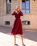 Стильное платье миди на запах из костюмки Барби, с 40 по 46 рр, фото 2