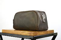 """Кожаный дорожный несессер коричневого цвета """"barcelona"""", фото 5"""