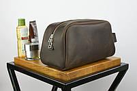 """Кожаный дорожный несессер коричневого цвета """"barcelona"""", фото 6"""