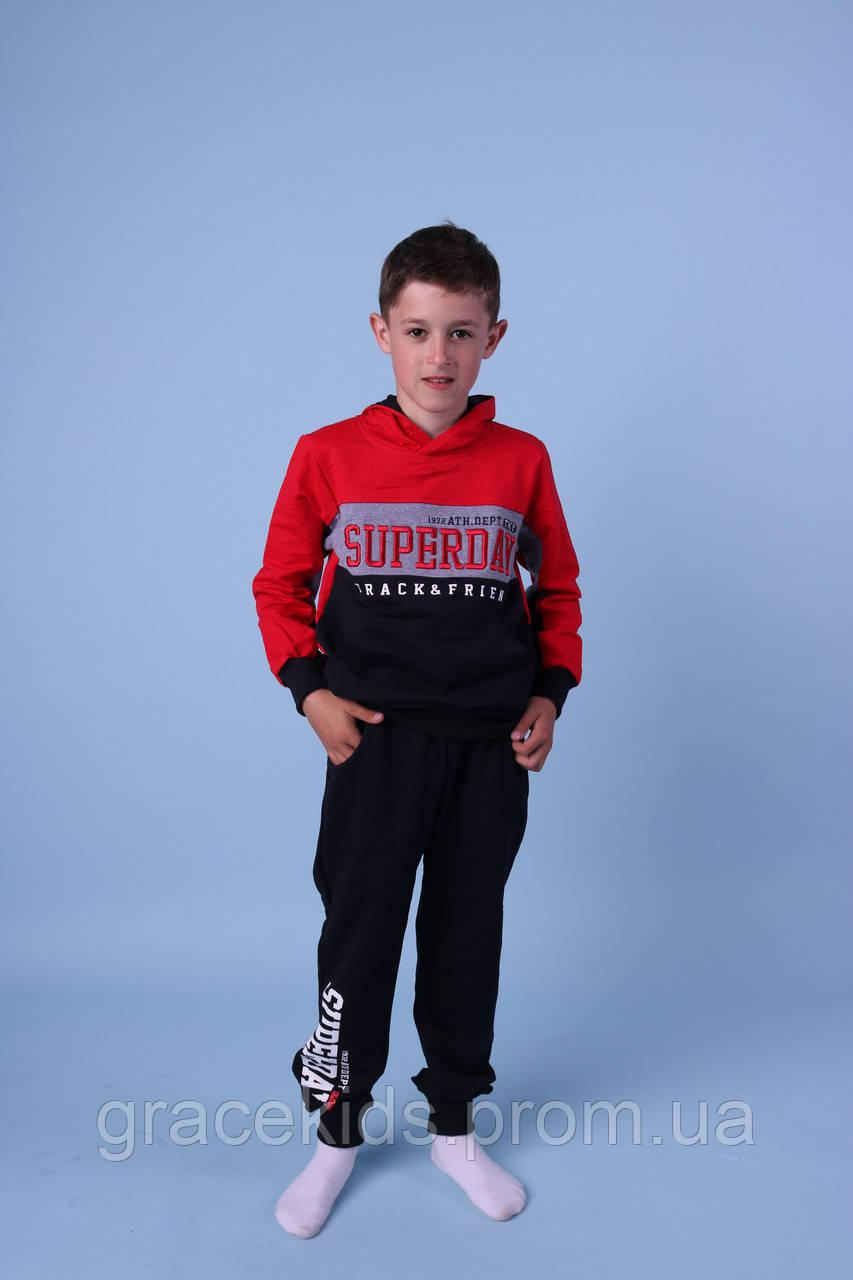 Модные детские спортивные костюмы с худи для мальчиков GRACE,разм 116-146 см