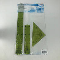 Набор гибких линеек United Office (3 шт.), цвет зеленый