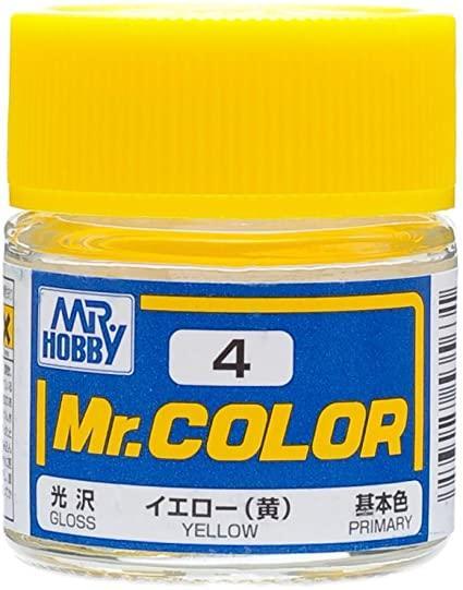 Жёлтый глянцевый 10 мл. MR. COLOR C4