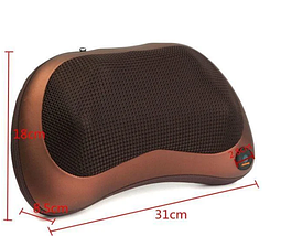 Масажна подушка підголовник масажер Майстер масажу Massage pillow для спини і шиї GHM 8028, фото 3