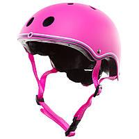 Шлем защитный детский Globber, розовый, с фонариком, 45-51см (XXS/XS) (506-110)