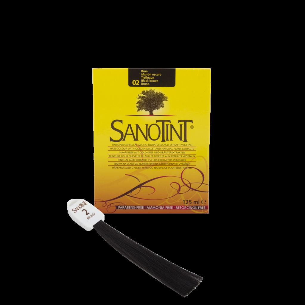 Фарба для волосся SanoTint  Класик, чорно-коричневий рослинна унісекс