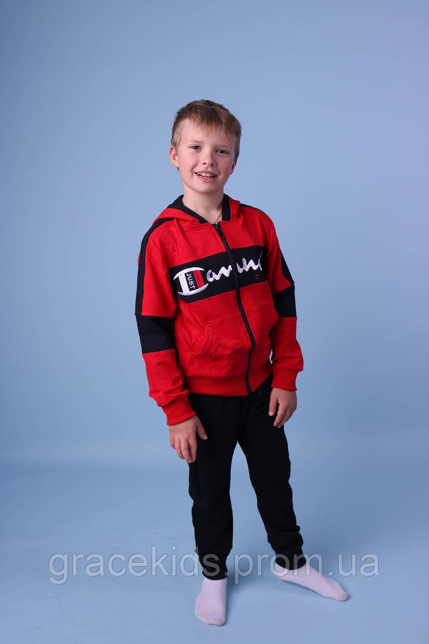Модные спортивные костюмы для мальчиков оптом GRACE,разм 134-164 см,95% хлопок