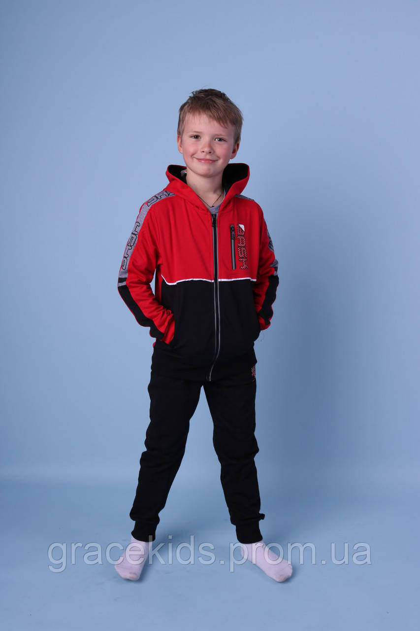 Яркие подростковые спортивные костюмы тройки для мальчиков люкс качества,разм 134-164 см,95% хлопок