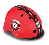 Шлем защитный детский Globber Гонки красный, с фонариком, 48-53см (507-102), фото 1