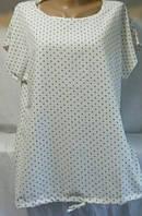 Блуза в мелкий горошек женская полубатальная (ПОШТУЧНО) L/48