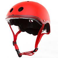 Шлем защитный детский Globber, красный, с фонариком, 48-53см XS/S (505-102)