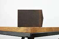 """Кожаный зажим для денег коричневого цвета """"lisbon"""", фото 5"""