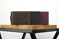 """Кожаный зажим для денег коричневого цвета """"lisbon"""", фото 6"""