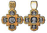 Крест  Спас Нерукотворный Евангелисты Марк Матфей Иоанн Лука Икона Божией Матери Скоропослушница Святые 8845, фото 2