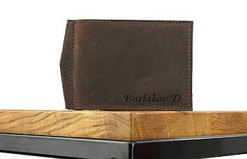 """Кожаный зажим для денег коричневого цвета """"lisbon"""""""