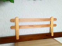 """Барьер защитный для детской кроватки из натурального дерева """"Масу"""" (цвет на выбор) 116 см. ольха светлая"""