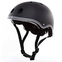 Шлем защитный детский Globber, черный, с фонариком, 48-53см XS/S (505-120)