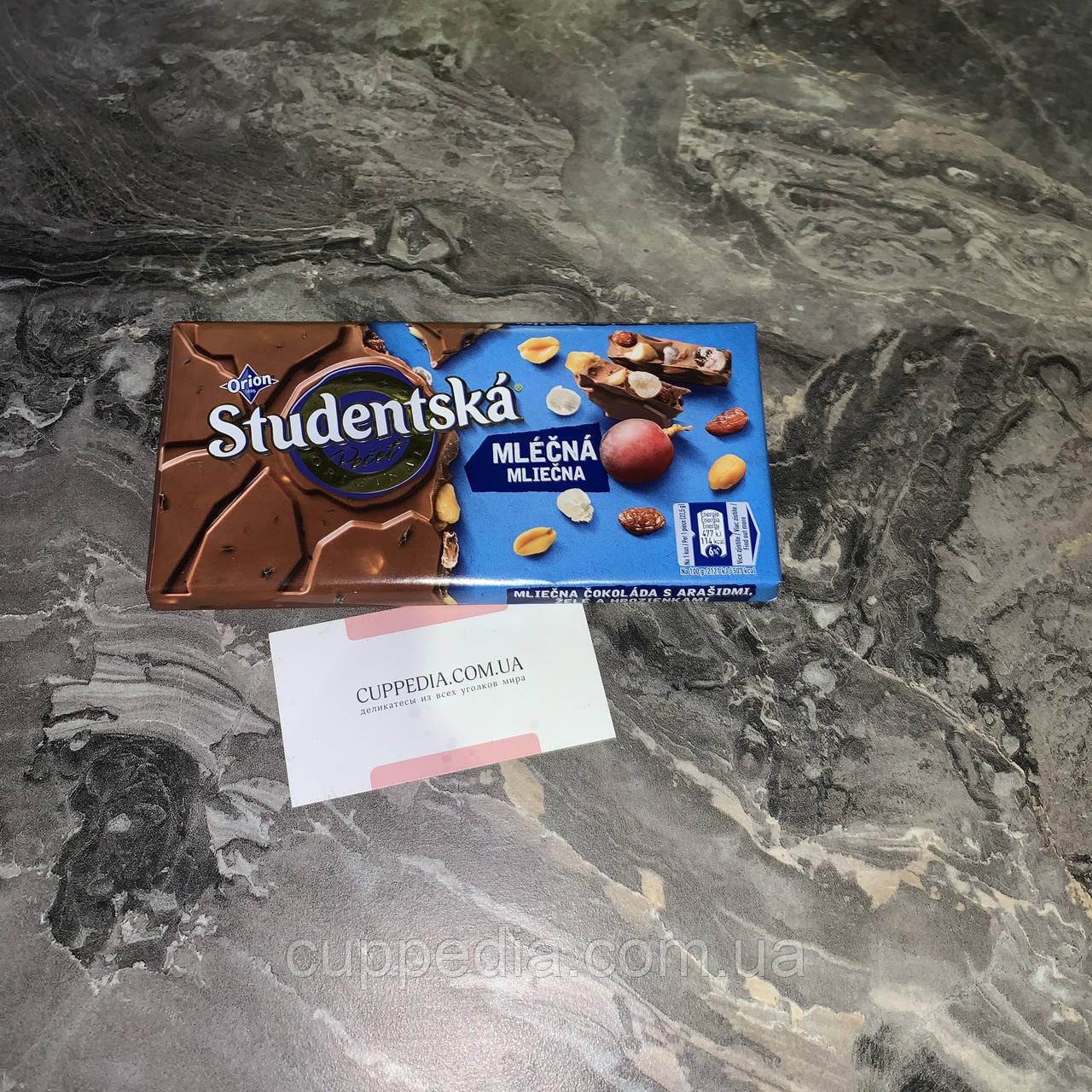 Молочный шоколад Studentska 180 грм