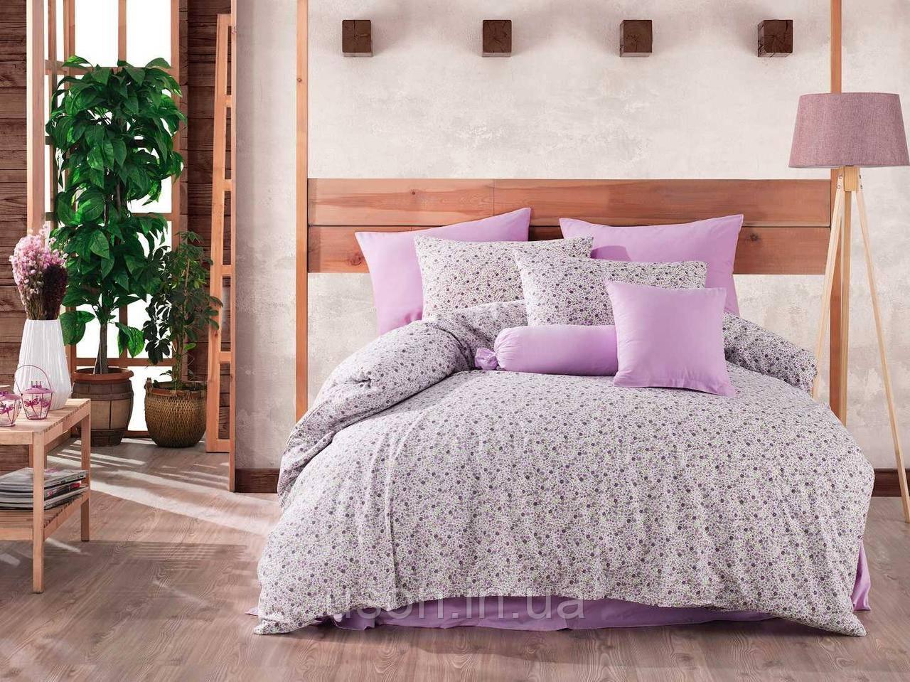 Комплект постельного белья ранфорс ТМ Majoly 200*220   Lily Lilac