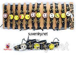 Сучасные кожаные браслеты на руку