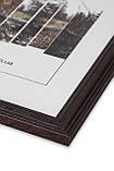 Рамка 25х25 из дерева - Дуб коричневый тёмный 2,2 см - со стеклом, фото 2