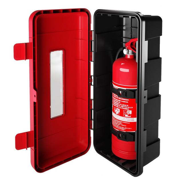 Пожежні шафи для вогнегасників пластик ШПО