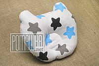 Ортопедическая подушка Мишка для малышей младенцев грудничков новорожденных детей в кроватку 4656 Голубой 2
