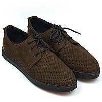 Кросівки літні коричневі сліпони чоловіче взуття великих розмірів Rosso Avangard Slip-On Brown NUB Perf BS