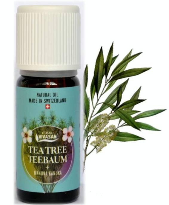 Эфирное масло чайное дерево Вивасан с манукой и канукой Швейцария, натуральное, 10 мл