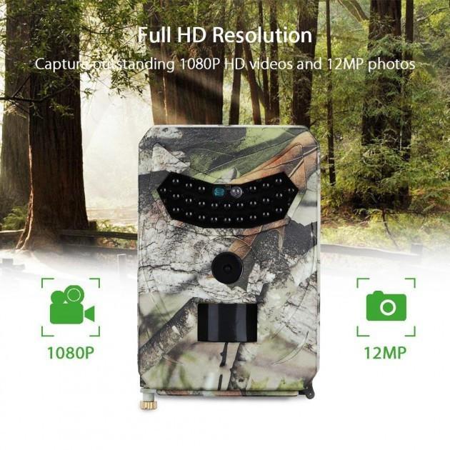 Фотоловушка Hunting PR-100 ночное видение 15м. датчик движения 15м. 12MP IP56 1с. 120гр. (10900)