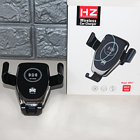 Держатель в авто Holder HZ-HWC-1 для мобильного телефона с беспроводной зарядкой, фото 1