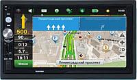 Автомагнитола Pioneer 7023 GPS  2DIN USB SD Bluetooth Черная