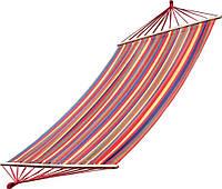 Яркий Гамак 200х100 см подвесной, хлопковый, с планкой до 180 кг, гамак мексиканский, гамак летний, фото 1