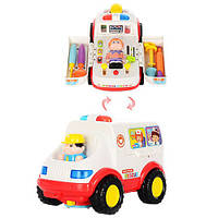 Развивающая игрушка Hola Машина скорой помощи (666543)