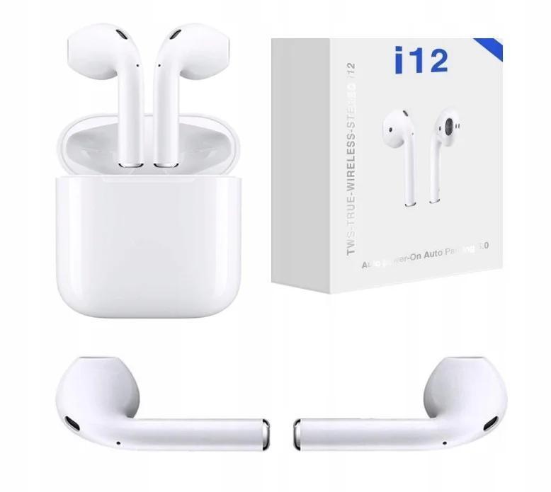 Беспроводные наушники в кейсе TWS Power Bank Bluetooth HBQ i12 Белый