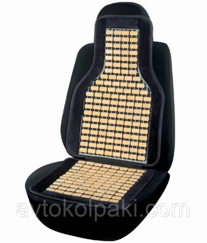 Накидка бамбуковая для сидения Elegant черная 45х108 см