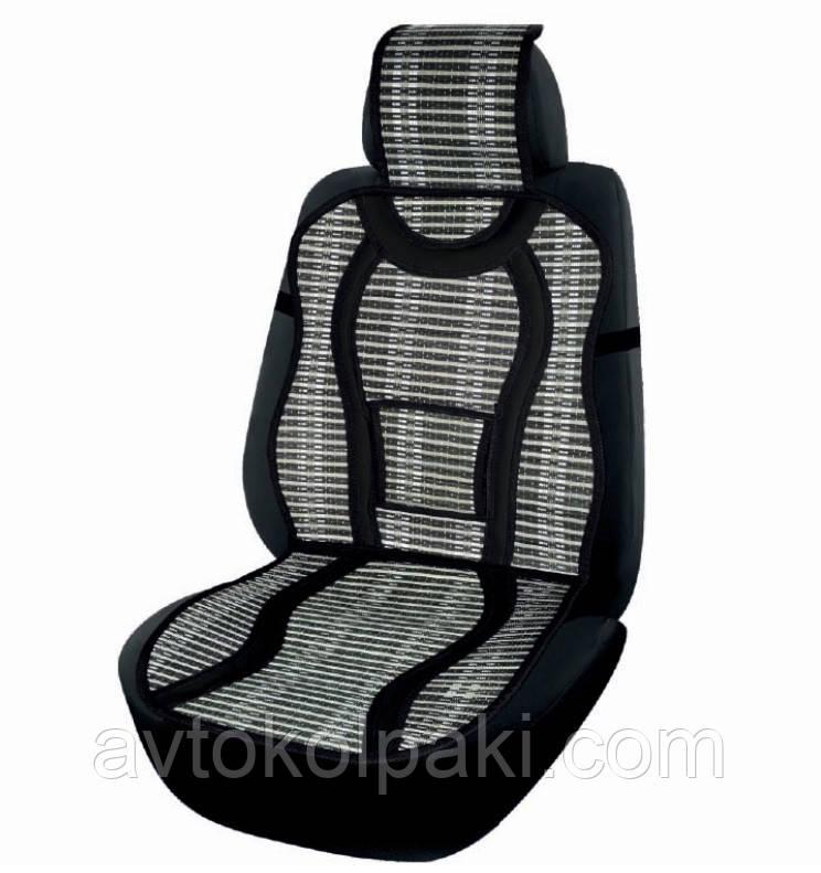 Накидка бамбуковая для сидения Elegant черная 47х127 см