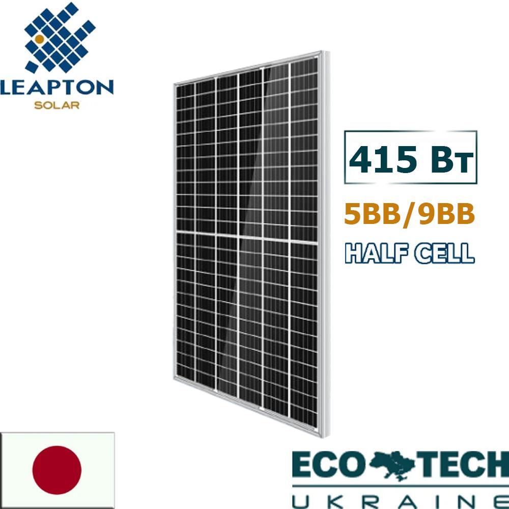 Солнечные батареи Leapton LP-М-72-H/МН-415 Half Cell 5BB/9BB монокристалл