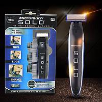 Триммер для волос MICRO TOUCH Solo аккумуляторный Для брутальных мужчин с БОРОДОЙ, триммер для бороды, фото 1