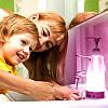 Сенсорный дозатор для жидкого міла с LED подсветкой Night light Soap Dispenser диспенсер для мыла с подсветкой