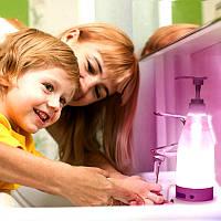 Сенсорный дозатор для жидкого міла с LED подсветкой Night light Soap Dispenser диспенсер для мыла с подсветкой, фото 1