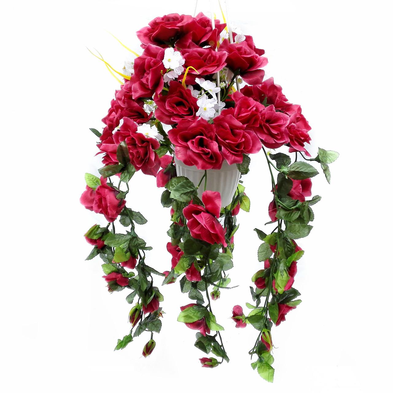 Роза подвеска 60 см разноцветная