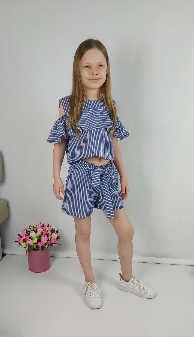 Костюм с шортами летний для девочки 128-164 р