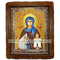 Икона Ангелина Святая Преподобная Сербская (с посеребренной рамкой 210х250мм)