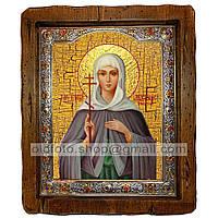 Икона Анастасия Великомученица Узорешительница (с посеребренной рамкой 210х250мм)