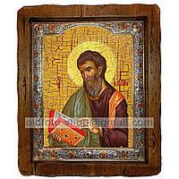 Икона Матфей Апостол Евангелист (с посеребренной рамкой 210х250мм)