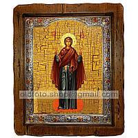 Нерушимая Стена Икона Пресвятой Богородицы  (с посеребренной рамкой 210х250мм)