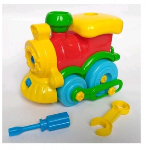 Игрушка-конструктор Поезд 30.003 ТМ Toys Plast